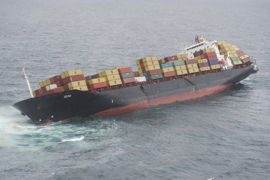 grounded ship Rena