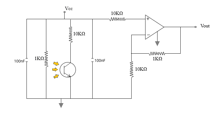 flame detector working circuit diagram