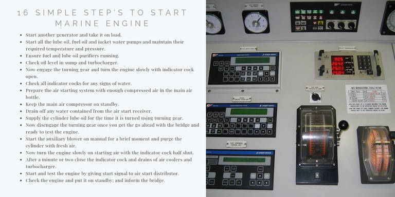 16 Simple Step's To Start Marine Diesel Engine