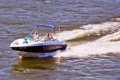 A Deck Boats is perfect for water sports and spending quality time with family.
