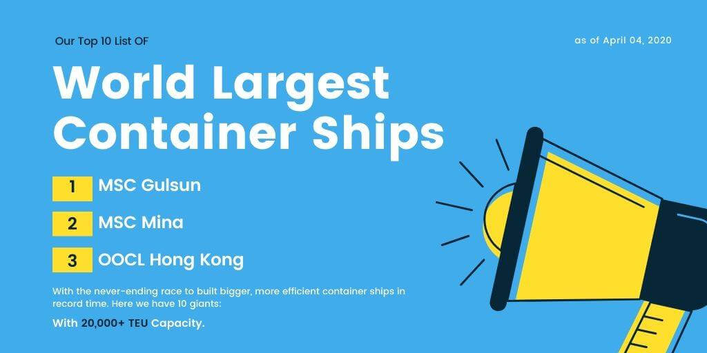 World Largest Container Ships | Top 10 List
